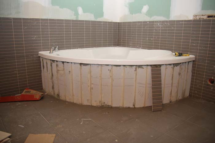 Baignoire En Faience. Free Calepinage Carrelage Baignoire With ...