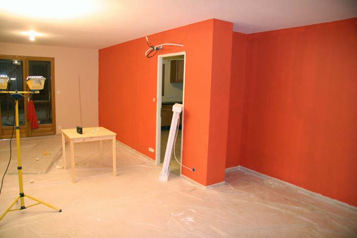 Finitions for Cuisine peinture orange