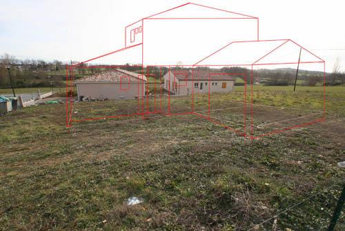 Basé Sur Les Plans Du0027implantation, Ju0027ai Simulé Lu0027implantation De La Maison  Sur Le Terrain. Voici Les Photos Sur Site: